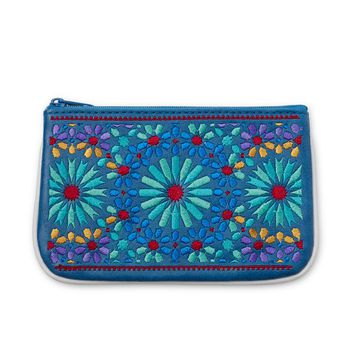 Marrakesh Embroidered Mini Pouch | moroccan pattern