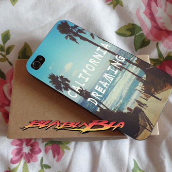 Live In California Dreaming Custom for iPhone 4/4s Case, iPhone 5/5s Case, iPhone 5C Case, Samsung S3 i9300 Case, Samsung S4 i9500 Case