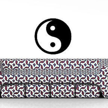YIN YANG SIGN  WALL VINYL STICKER  DECALS ART MURAL T009