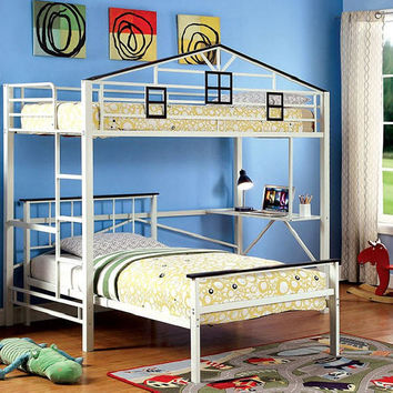 Bucktown Twin Size Study Fort Loft Bed