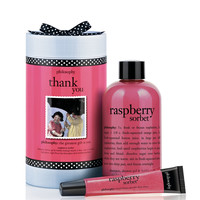 thank you | raspberry sorbet gift set | philosophy