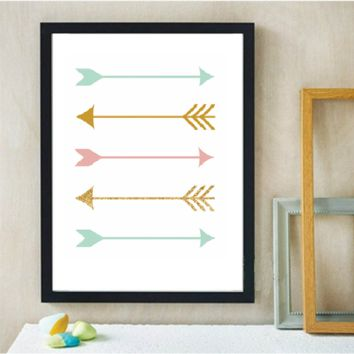 Arrows Canvas Art Print Poster, Wall Picture -  No Frame