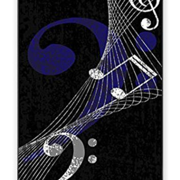 Hip Hipster (Musical) Music Notes band Direct-To-Case Printed (NOT A STICKER) iPhone 4 Quality Hard Snap On Case for iPhone 4 4S 4G - AT&T Sprint Verizon - White Case Cover