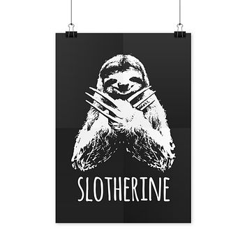 Sloth Wolverine Slotherine Sloth Poster Funny Sloth Poster Cool Sloth Posters
