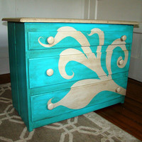 Painted Chest of Drawers by RefineryFurniture on Etsy