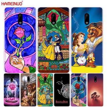 HAMEINUO Beauty and the Beast Rose cover phone case for Nokia 9 8 7 6 5 3  Lumia 630 640 640XL 2018