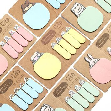VONC1Y Cute Animal Korean Rabbit Sheep Kawaii Stationery Post It Diary Memo Pad Scrapbooking Sticky Notes Book Paper Sticker Bookmark