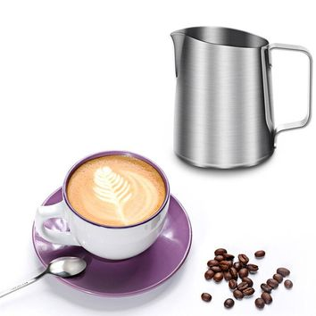 New Stainless Steel Coffee Frothing Pitcher Garland Cup Drinkware for Tea Mocha Cappuccino Milk Cafe Chocolate Mugs