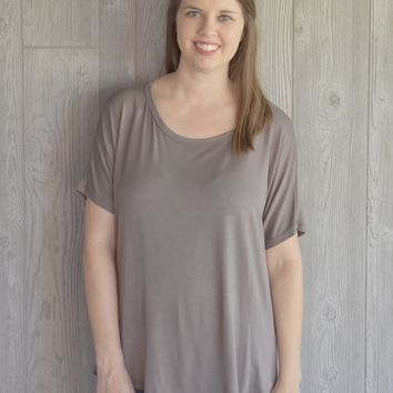 Cocoa Draped Back Top