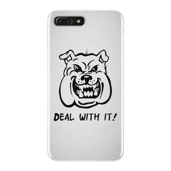 deal with it angry pitbul iPhone 7 Plus Case
