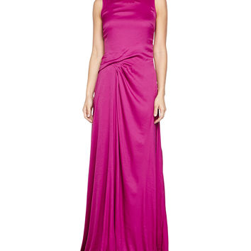 Tank Gathered Gown, Magenta, Size: