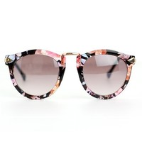 Floral Rim Retro Sunglasses