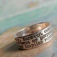 Always Definition Commitment Ring in Recycled Fine by happygolicky