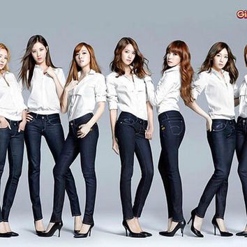 Girls Generation South Korean Girl Group Music Poster 11x17