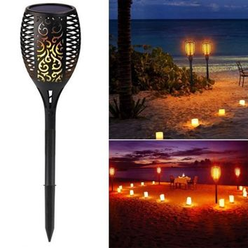 Solar 96 LED Flickering Flame Torche Light Outdoor Waterproof Landscape Decor for Garden Lawn