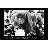 girl on a motorcycle INSPIRATIONAL quote SPIRITED poster 24X36 HOT