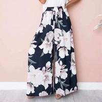 Womens Elastic Loose Boho Pants Womens Pants