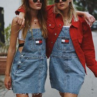 Tommy Jeans 90s Denim Skirtall Overall