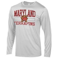 Maryland Terrapins Structured Long Sleeve T-Shirt – White