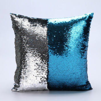 Two tone sequins throw pillows