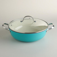 Aqua Lightweight Cast Iron Braiser | World Market