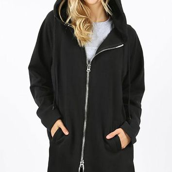 Zipper Hoody - Black