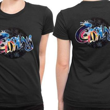 CREYH9S Coldplay Typo Colorize 2 Sided Womens T Shirt