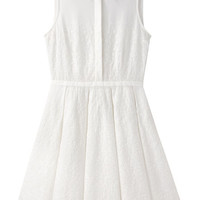 Band of Outsiders Eyelet Sleeveless Shirtdress | La Garçonne