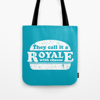Pulp Fiction - royale with cheese Tote Bag by g-man