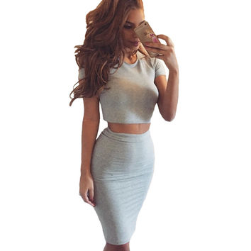Two Piece Midi Dress