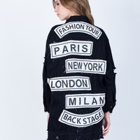Oversized Fashion Tour Denim Jacket