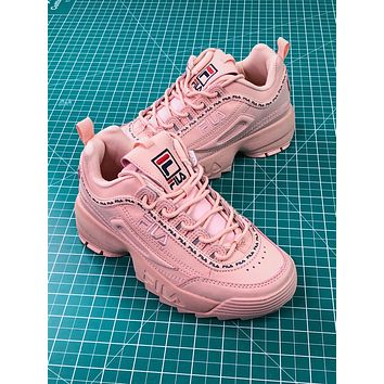 Fila Disruptor Ii 2 Pink Women's Sneakers Shoes - Sale