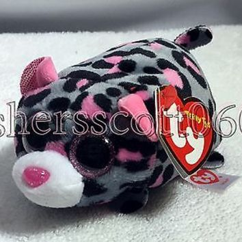 Miles Teeny Tys Beanie - MWMT - Pink & Grey Leopard - Stackable - FREE SHIPPING