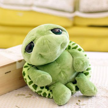 2016 New arriving 18cm Army Green Big Eyes Turtle Plush Toy Turtle Doll Turtle Kids As Birthday Christmas Gift Free shipping