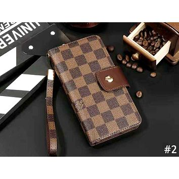 LV & GUCCI & Burberry Tide brand lanyard iPhone6 flip phone case cover