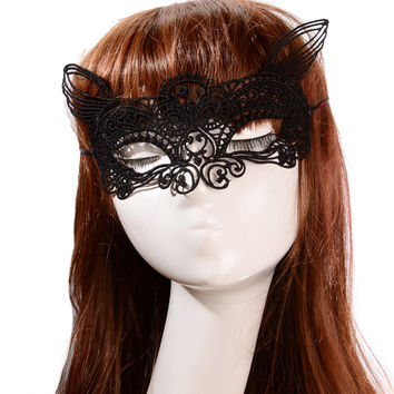 Fox Ears Lace Party Mask