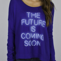 The Future Is Coming Soon Long Sleeve Tee - Women's New Arrivals - All - Junk Food Clothing