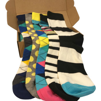 5 Pair Men's Power Socks - Chi Town Collection