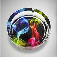 Rainbow Smoke Glass Ashtray - Spencer's