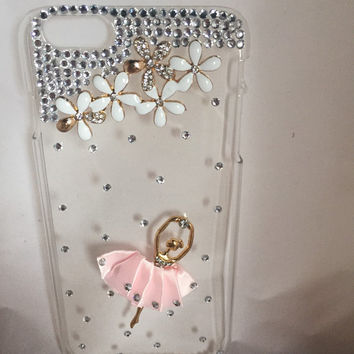 Iphone 6 plus, ballerina phone case, cell phone case, ballerina, bling cell phone case