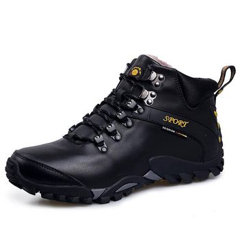 Winter Hiking Boots Man Winter Snow Boots Waterproof Mountain Climbing Shoes Outdoor S