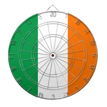 Dartboard with Flag of Ireland