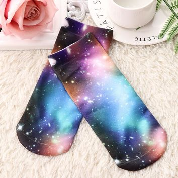 Graphics Galaxy Donut Bunny Cell Phone Low Cut Ankle Short Socks Funny Crazy Cool Novelty Cute Fun Funky Colorful