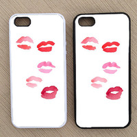 Cute Lipstick Kisses Makeup iPhone Case, iPhone 5 Case, iPhone 4S Case, iPhone 4 Case - SKU: 185