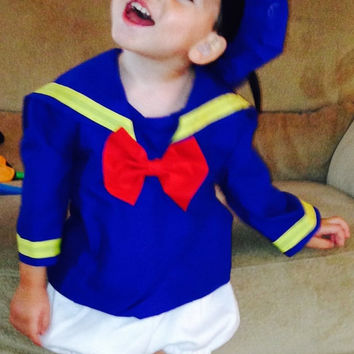 Sailor Three Peice Donald Duck inspired SET sizes 1,2t, 3t, 4t Only--