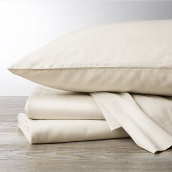 Undyed 300 TC Organic Sateen Sheeting