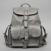 Grey Structured Pockets Mini BackPack