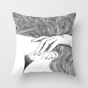 asc 629 - Le geste furtif (Stealth rapture) Throw Pillow by From Apollonia With Love