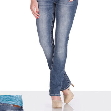 Ellie Medium Wash Stretch Jeans - Medium Sandblast