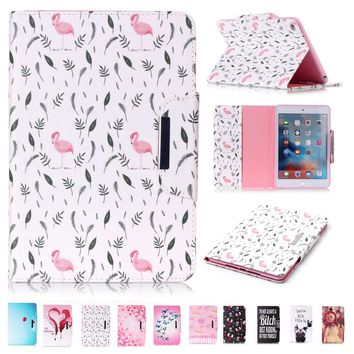 For iPad Air 2 Case Cover Cute Bird PU Leather Flip Folio Stand Magnetic Case Full Body Protective Cover for iPad Air 2 Coque